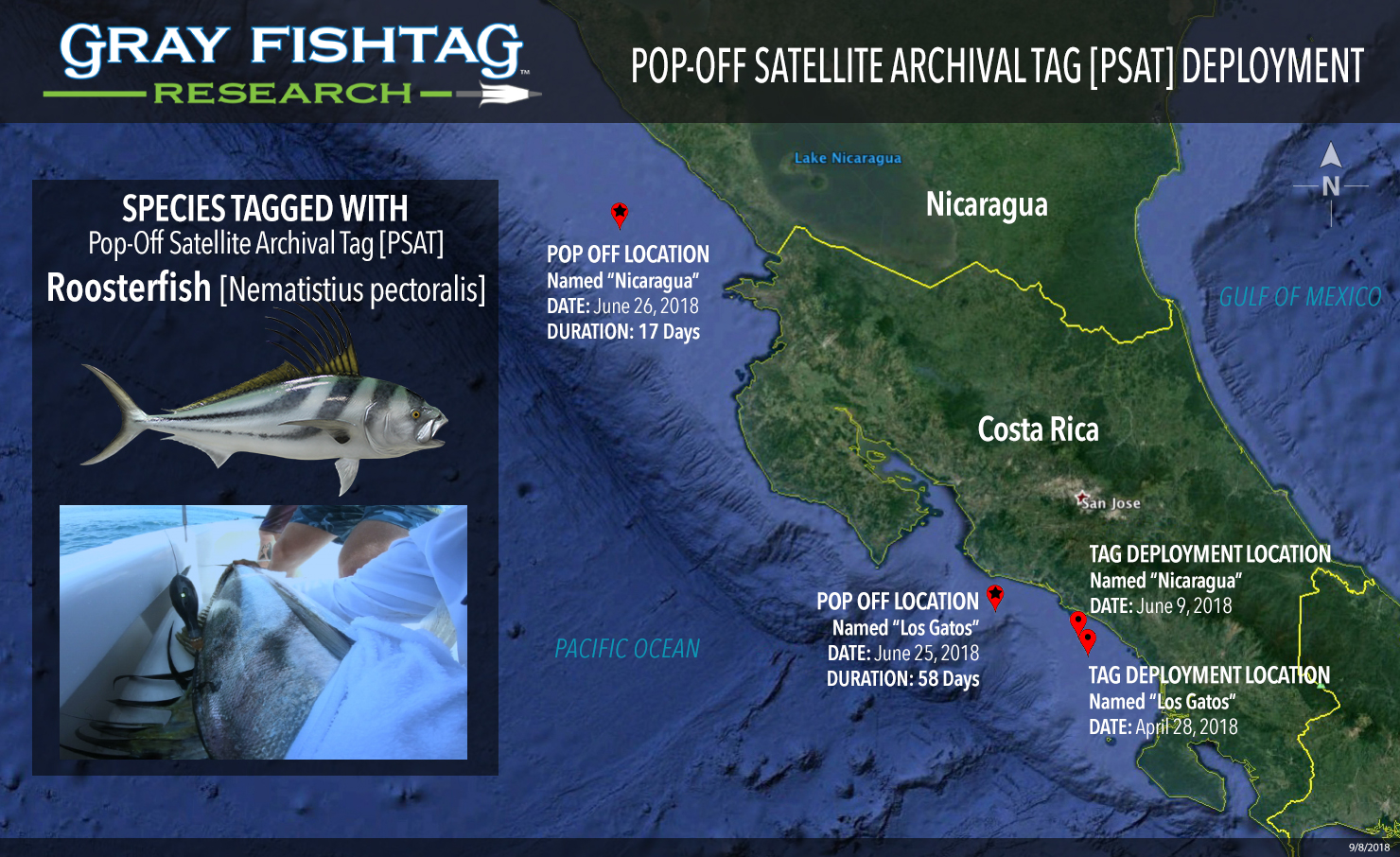 Map Costa Rica Roosterfish